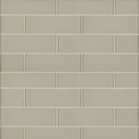 Snowcap White 3x9 Backsplash Glass Subway Tile