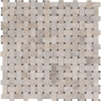 Tundra Gray Basketweave Pattern Polished Mosaic