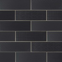 Urbano Ink 3D Mix 4x12 Glossy Ceramic Subway Tile