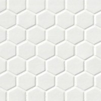 Whisper White 2x2 Glossy Hexagon Mosaic