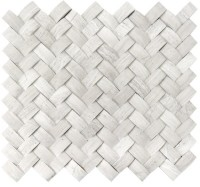 White Oak Arched Herringbone 3D Honed Mosaic