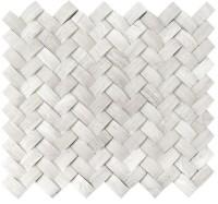 White Oak Arched Herringbone 3D Honed Mosaic