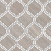 White Quarry Savona Polished Geometric Pattern Mosaic