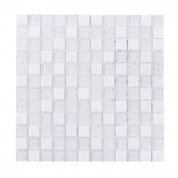 White Staccato 1X1 Blend Mosaic
