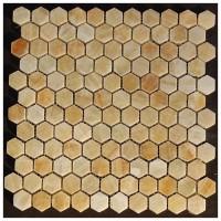 Yellow Onyx 1X1 Hexagon Polished