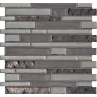 Zamora Interlocking Pattern 8mm Glass Tile