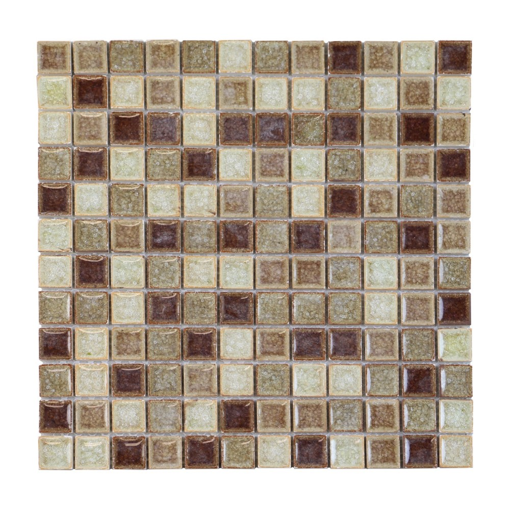 Crackle Cranberry Mix 5/8 X 5/8 Glass Mosaic