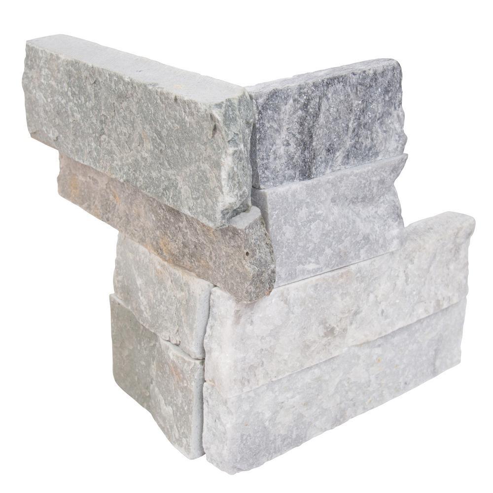 Alaska Gray 4.5X9 Split Face Mini Corner Ledger Panel