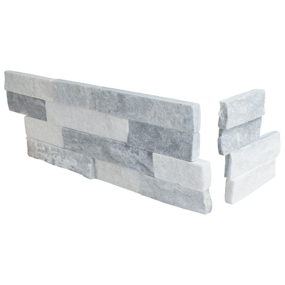 Alaska Gray 6x12x6 Split Face Corner Ledger Panel