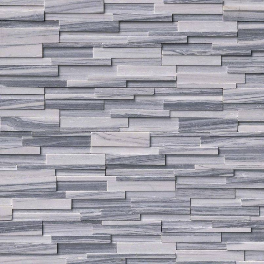 Alaska Gray 6x18x6 3D Honed Corner Ledger Panel