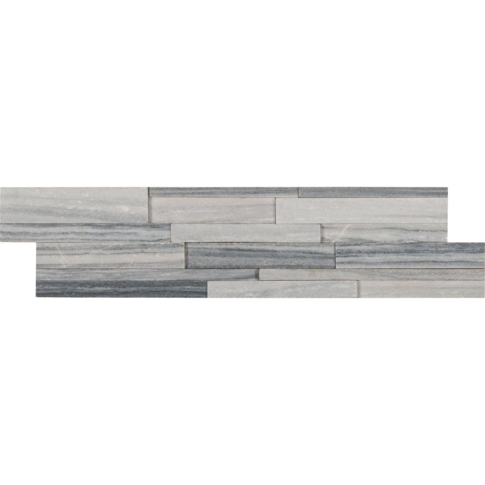 Alaska Gray 6x24 3D Honed Ledger Panel