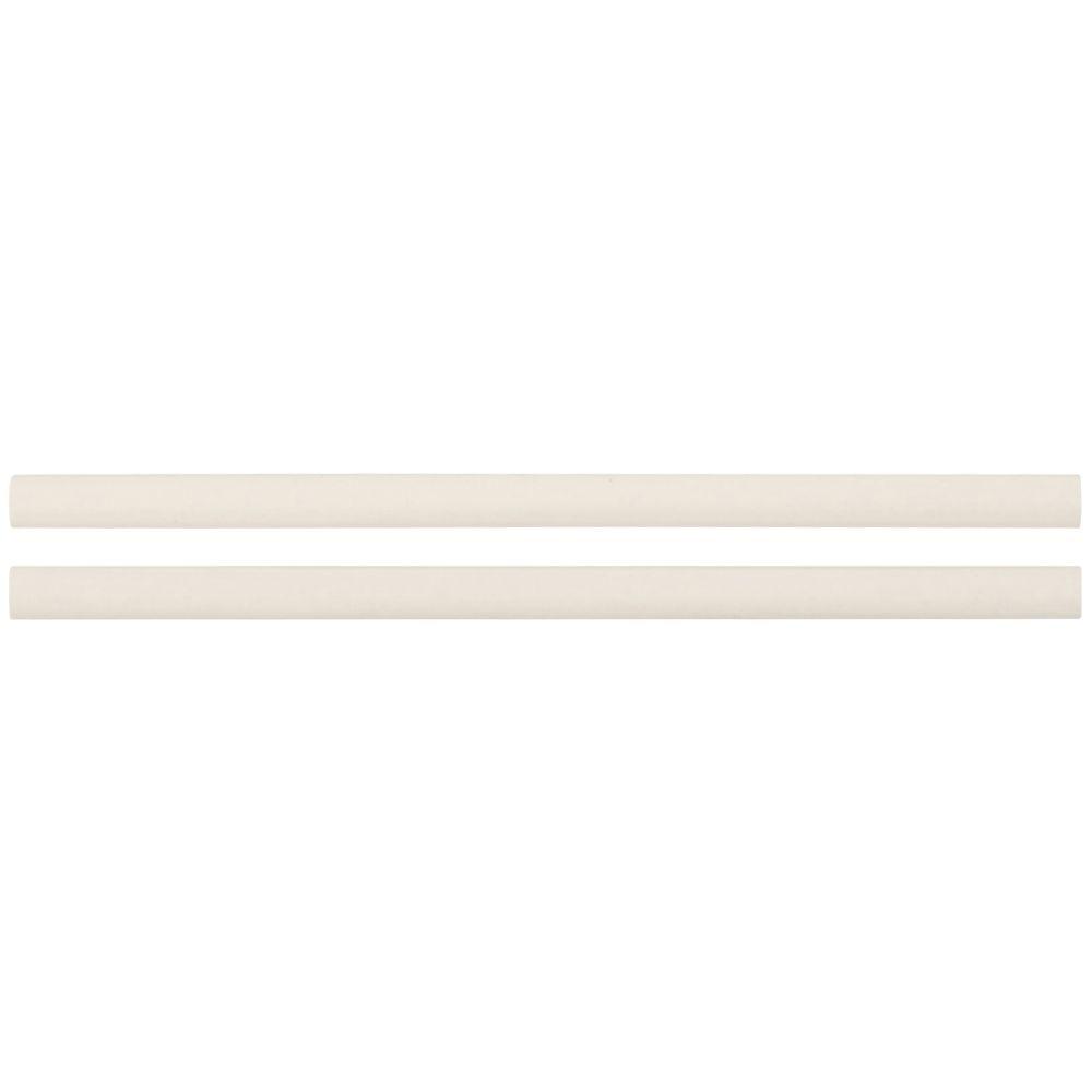 Almond Glossy 1/2x12 Pencil Ceramic Molding
