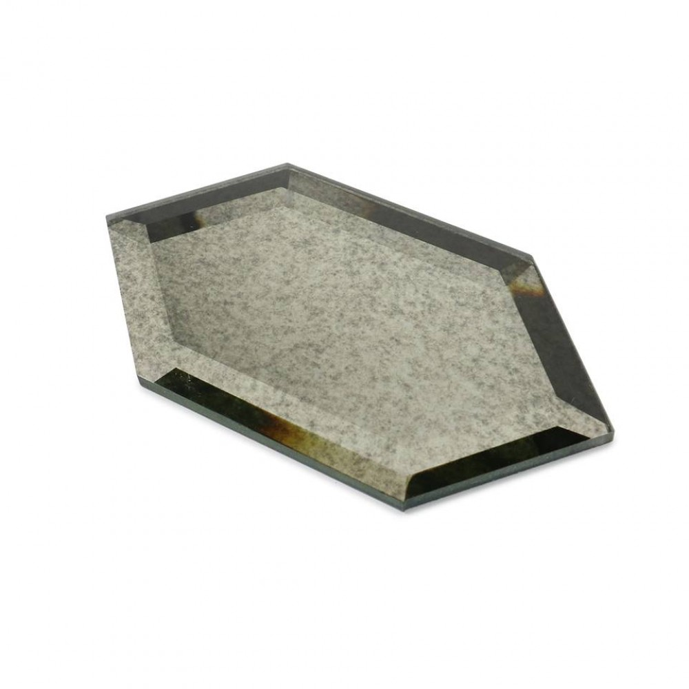 Antique Mirror Stretched 4X8 Beveled Hexagon