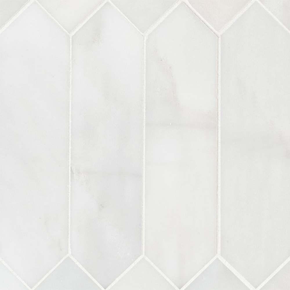 Arabescato Carrara 3X12 Picket Honed Mosaic