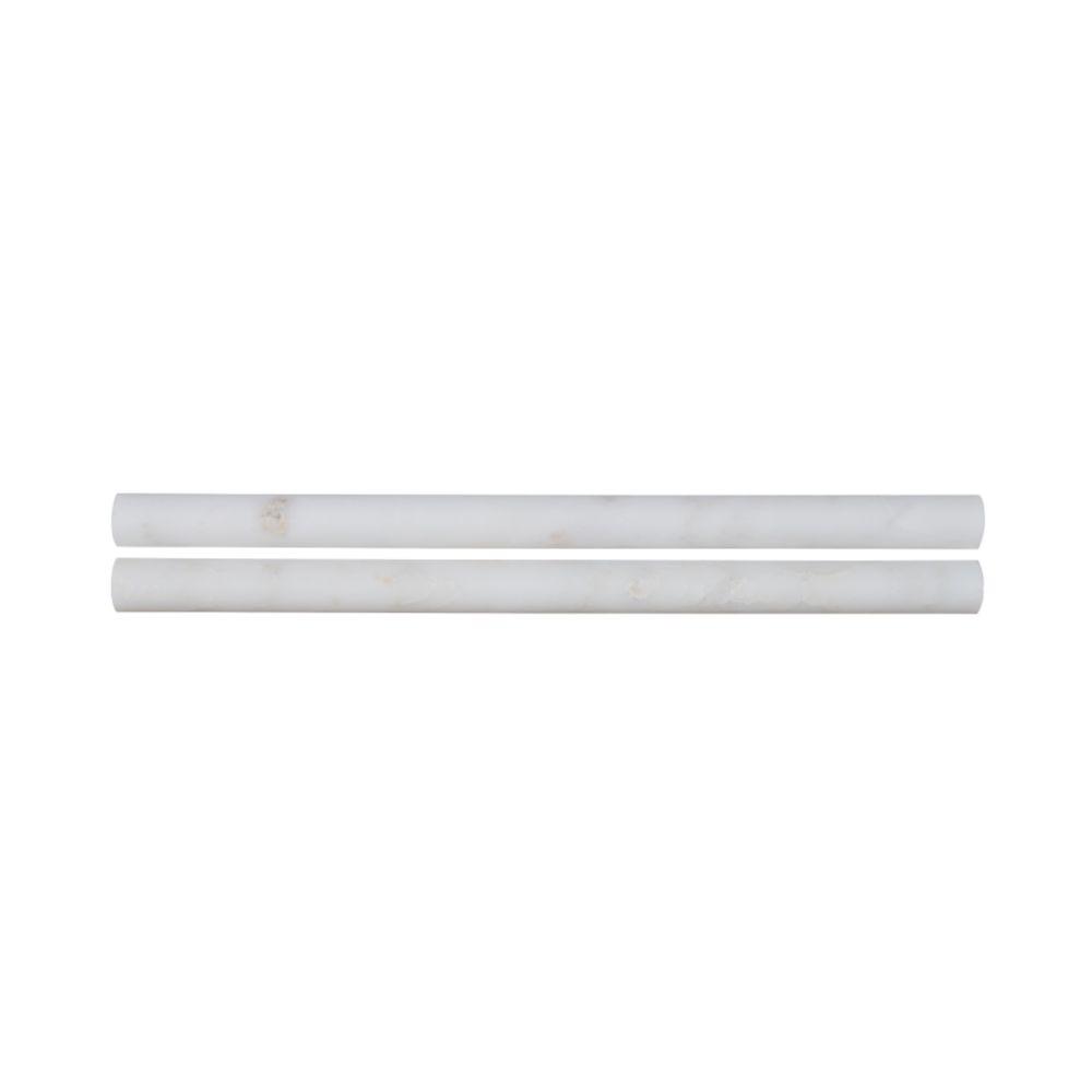 Arabescato Carrara Pencil Molding 3/4x12 Honed