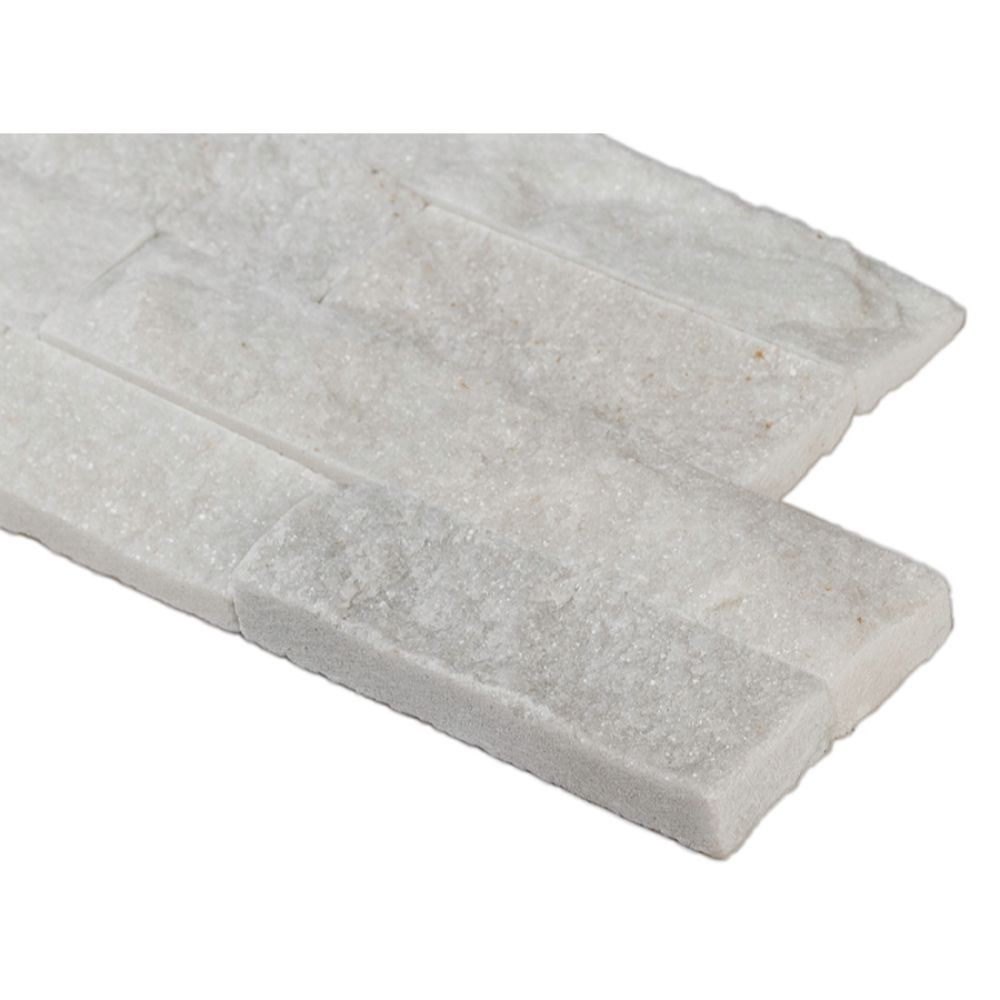 Arctic White 6x24 Split Face Ledger Panel
