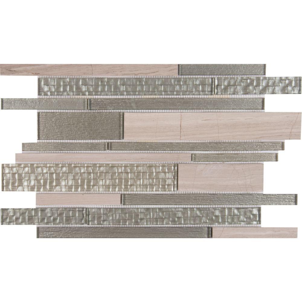 Aria Interlocking 8mm Glass Wall Tile
