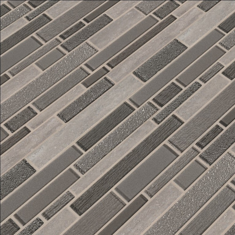 Azurite Interlocking 8mm Glass Wall Tile