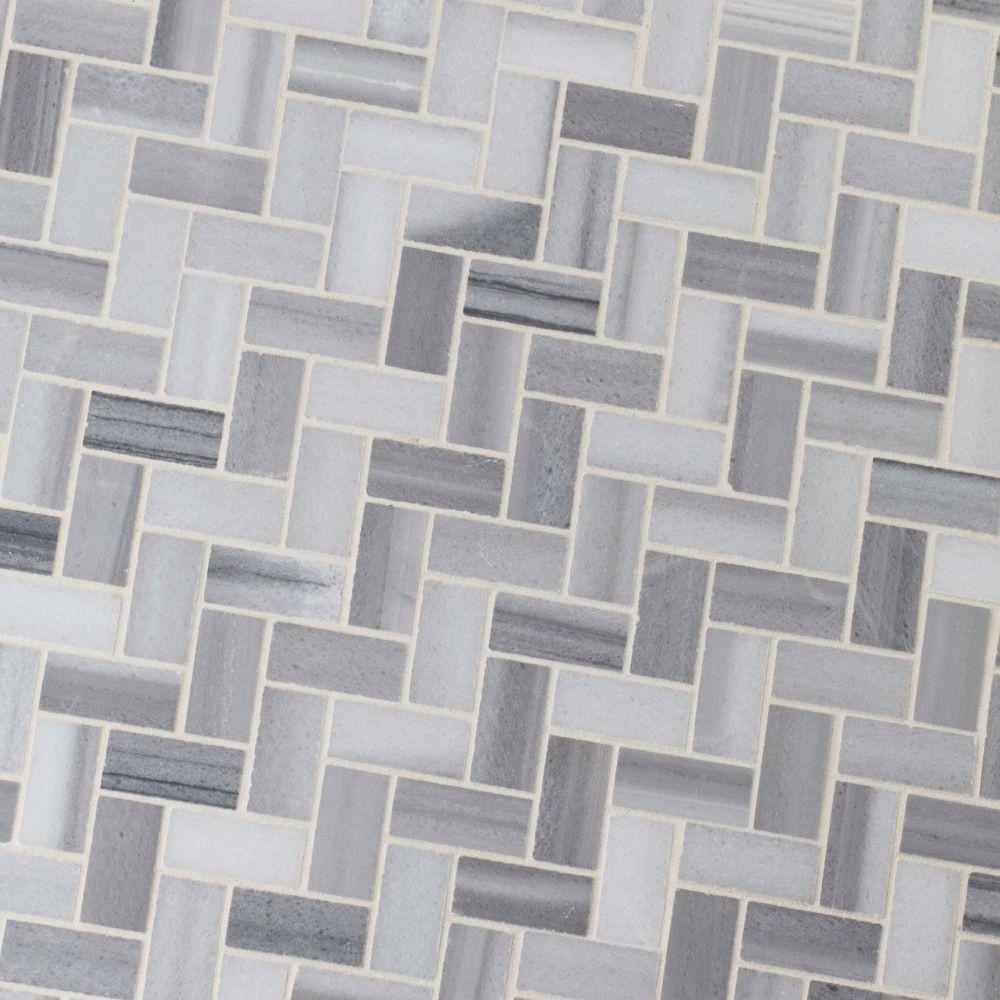 Bergamo Herringbone Polished Pattern Mosaic