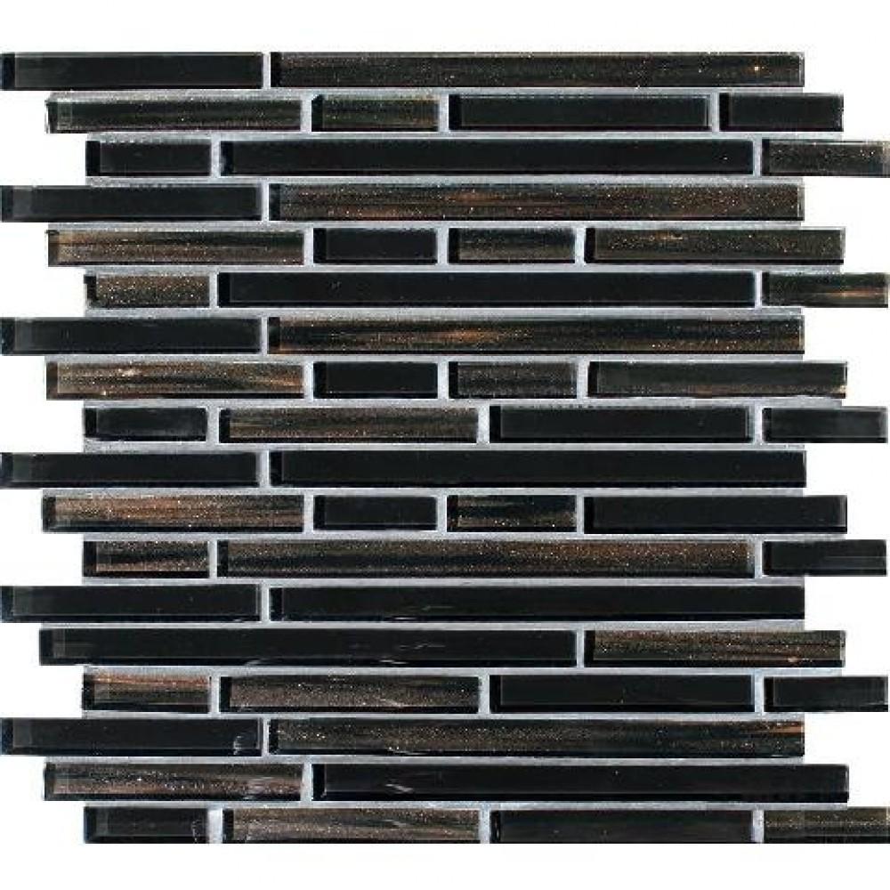 Black Amber Interlocking 12x12 Blend