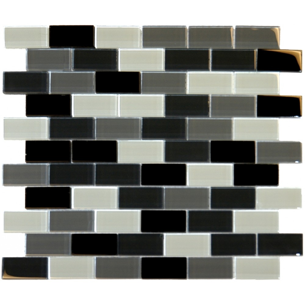 Black Blend Brick 1X2X8MM