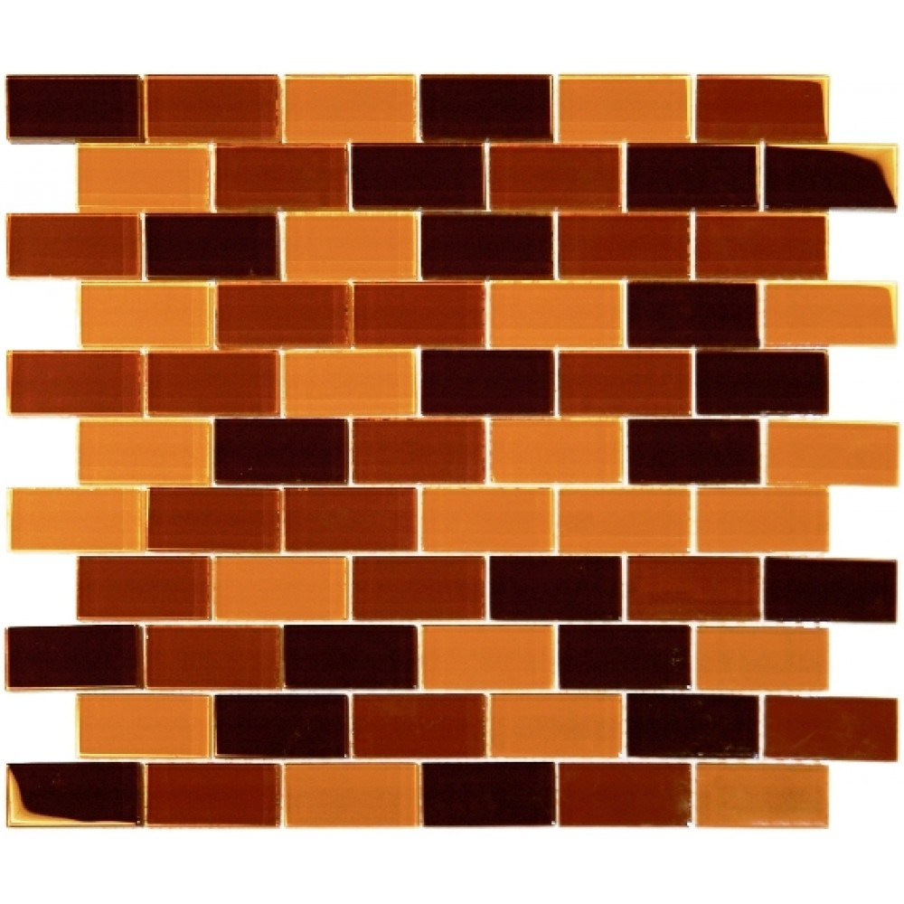 Brown Blend Brick 1X2X8MM