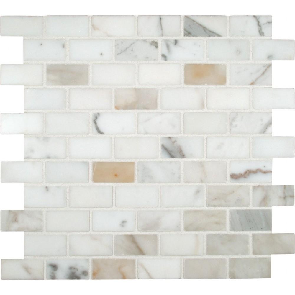 Calacatta Gold 1X2 Polished Marble Mosaic