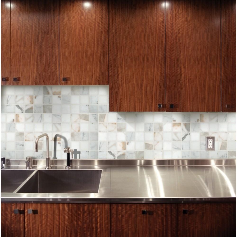 Calacatta Gold 2X2 polished Marble Mosaic