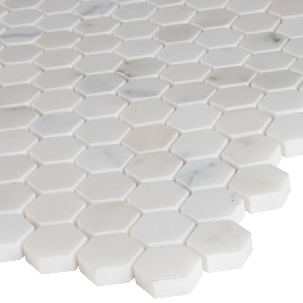 Calacatta Gold Hexagon 1x1 Polished Marble Mosaic