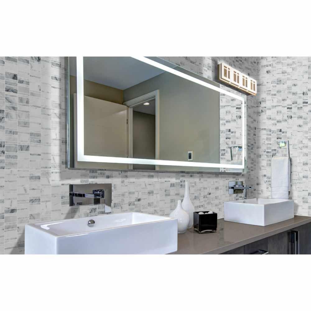 Carrara Classique Multi Pattern Honed Marble Mosaic