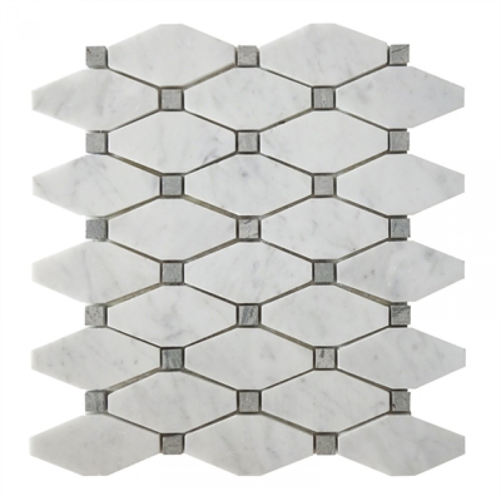 Carrara White 12X11 Octagon Mosaic