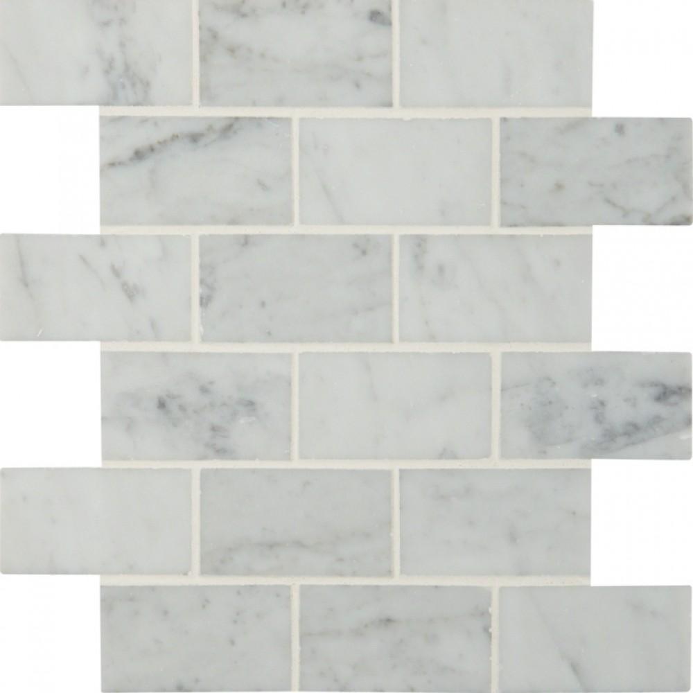 Carrara White 2x4 Polished Mosaic
