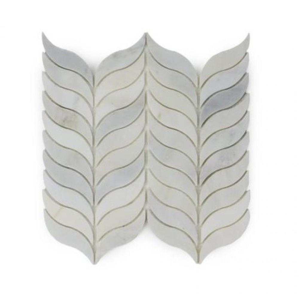 Carrara White Polished Synergy Weave Mosaic