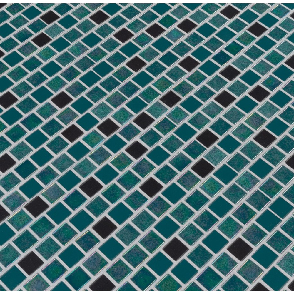 Carribean Mermaid 1X1 Staggered Glass Mosaic