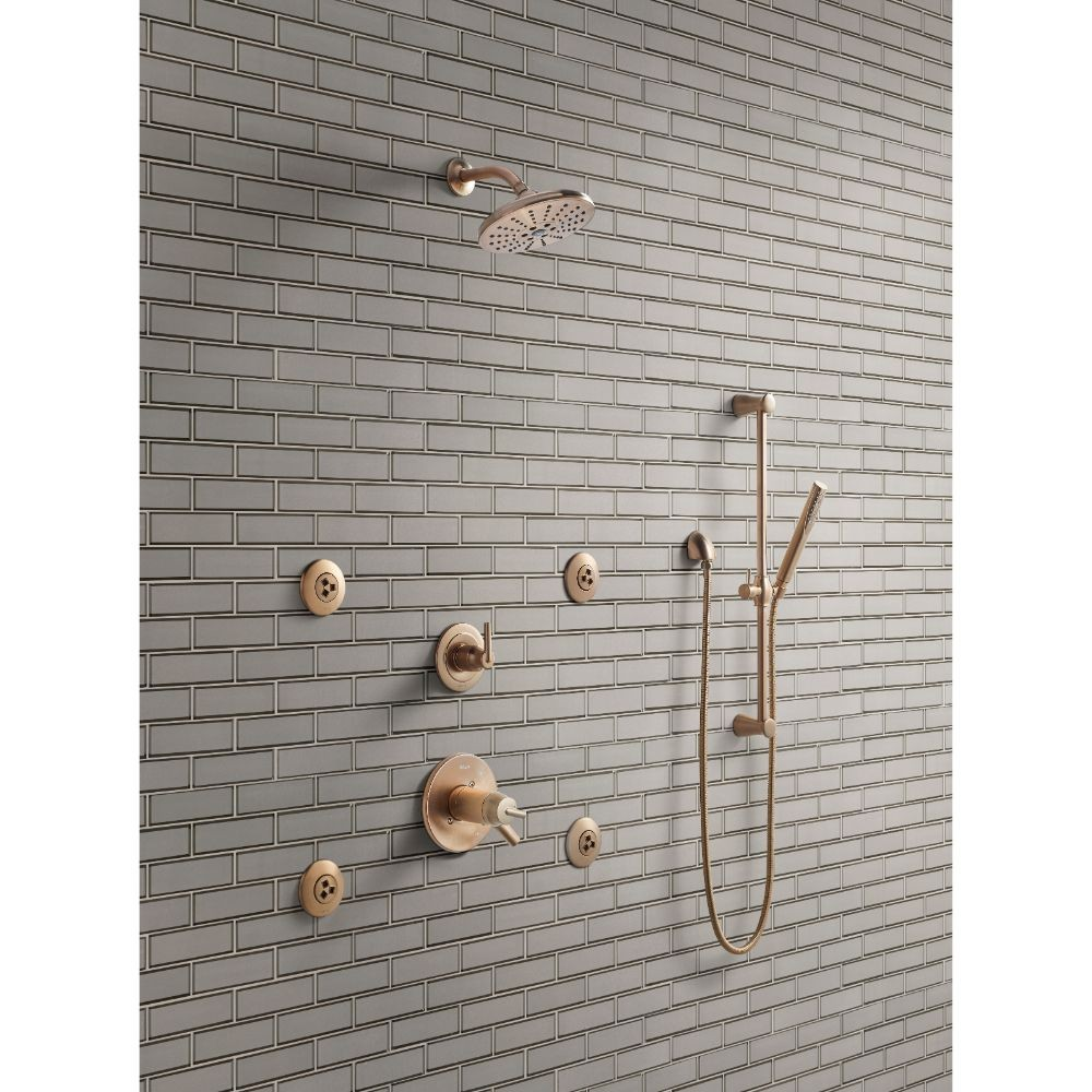 Champagne 2x6x8 Glossy Bevel Glass Subway Tile