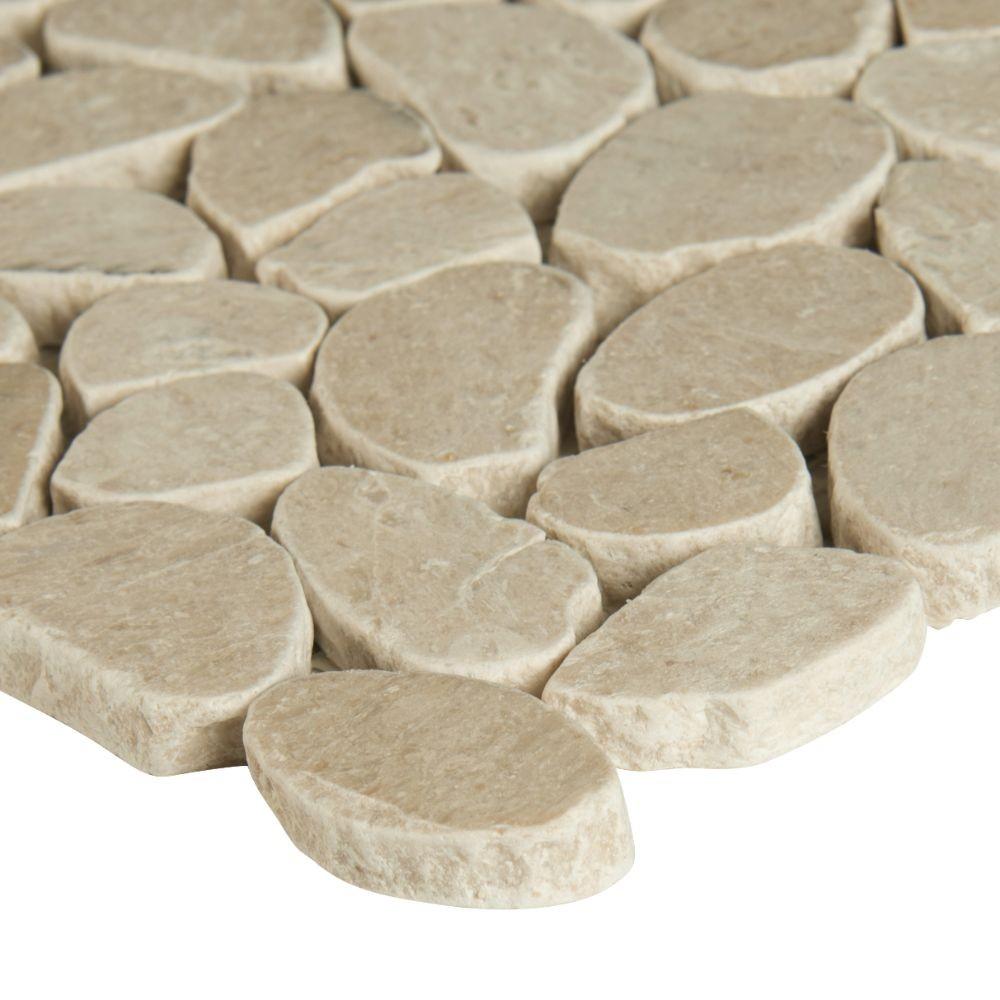 Coastal Sand 12X12 Tumbled Pebbles