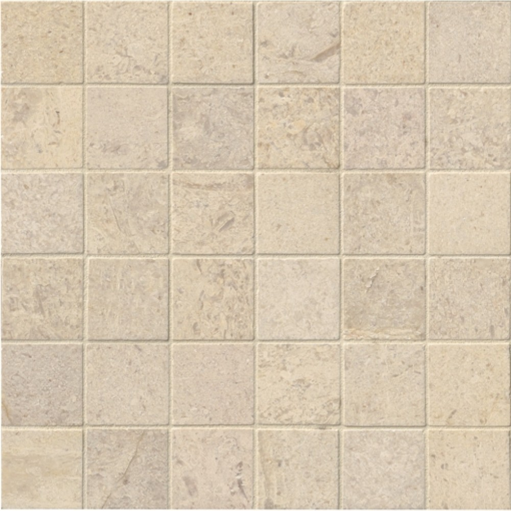 Coastal Sand 2X2 Honed Travertine Mosaic