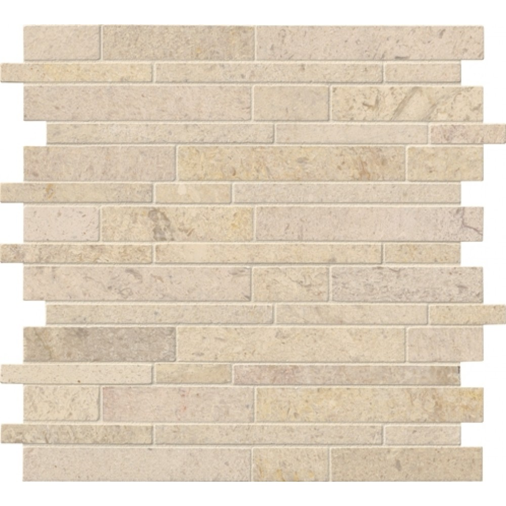 Coastal Sand 12X12 Interlocking Honed Pattern Mosaic