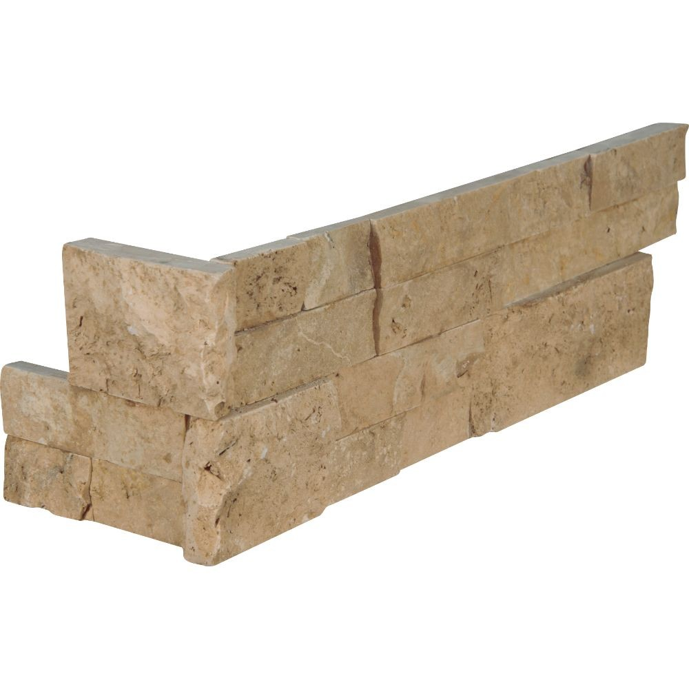 Cordoba Noche 6X18X6 Split Face Corner Ledger Panel