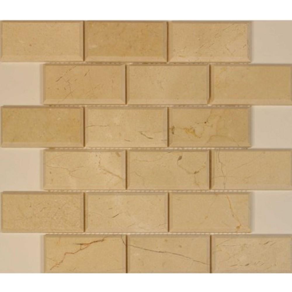Cream Marfil 2x4 Polished Mosaic