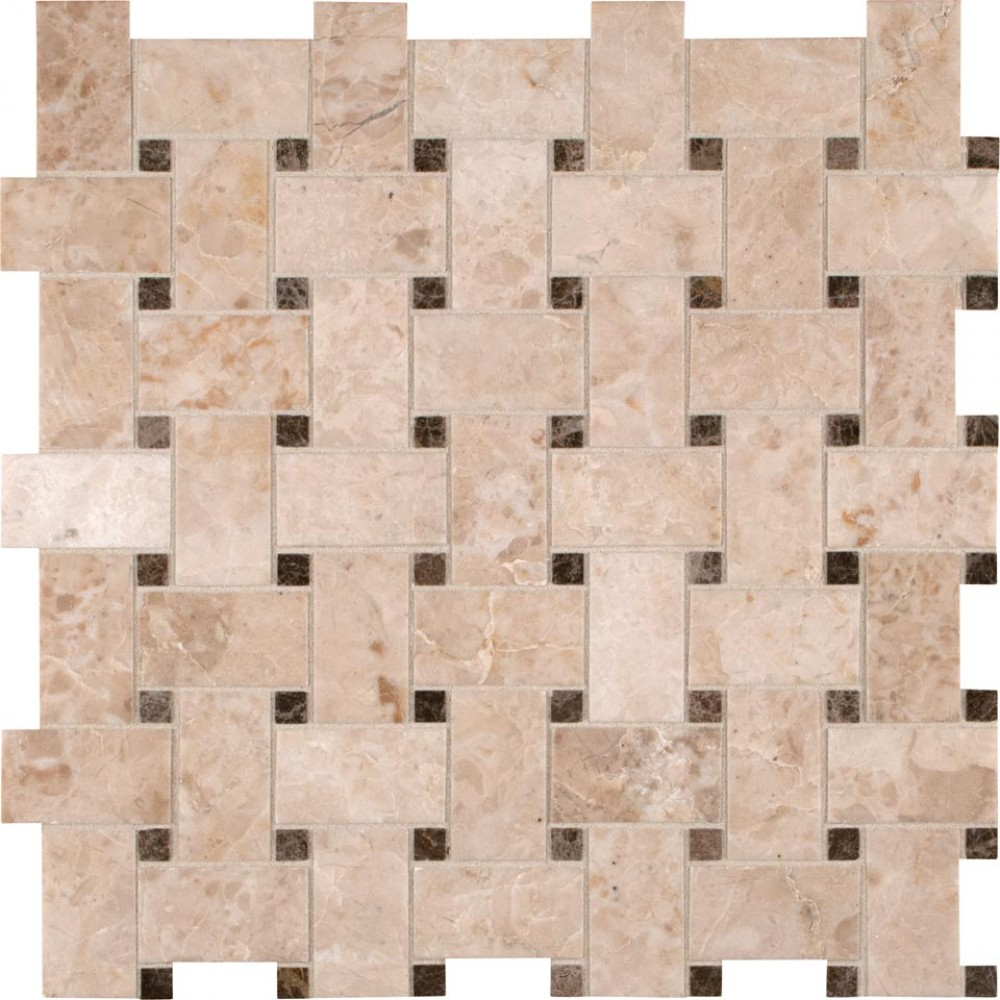Crema Cappuccino Basketweave 12X12 Polished