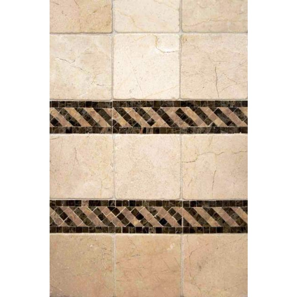 Durango Cream 4X4 Honed And Bevel Tile