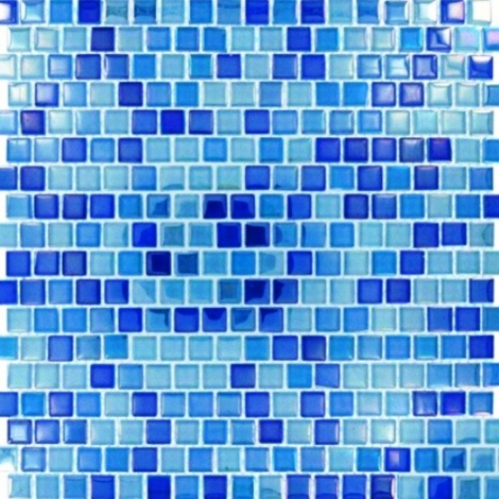 Dark Blue Blend Pool Tiles