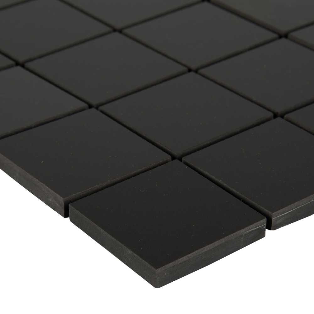 Domino Black 2X2 Polished Porcelain Mosaic Tile