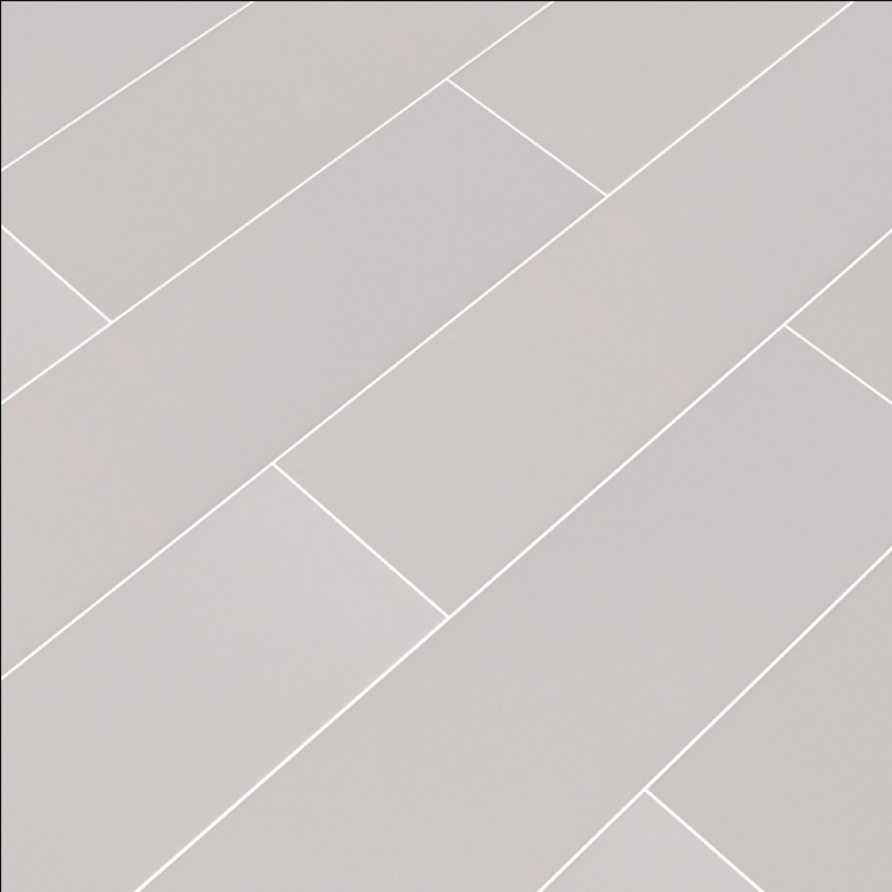 Domino Gray Glossy 4x16 Subway Ceramic Tile Backsplash