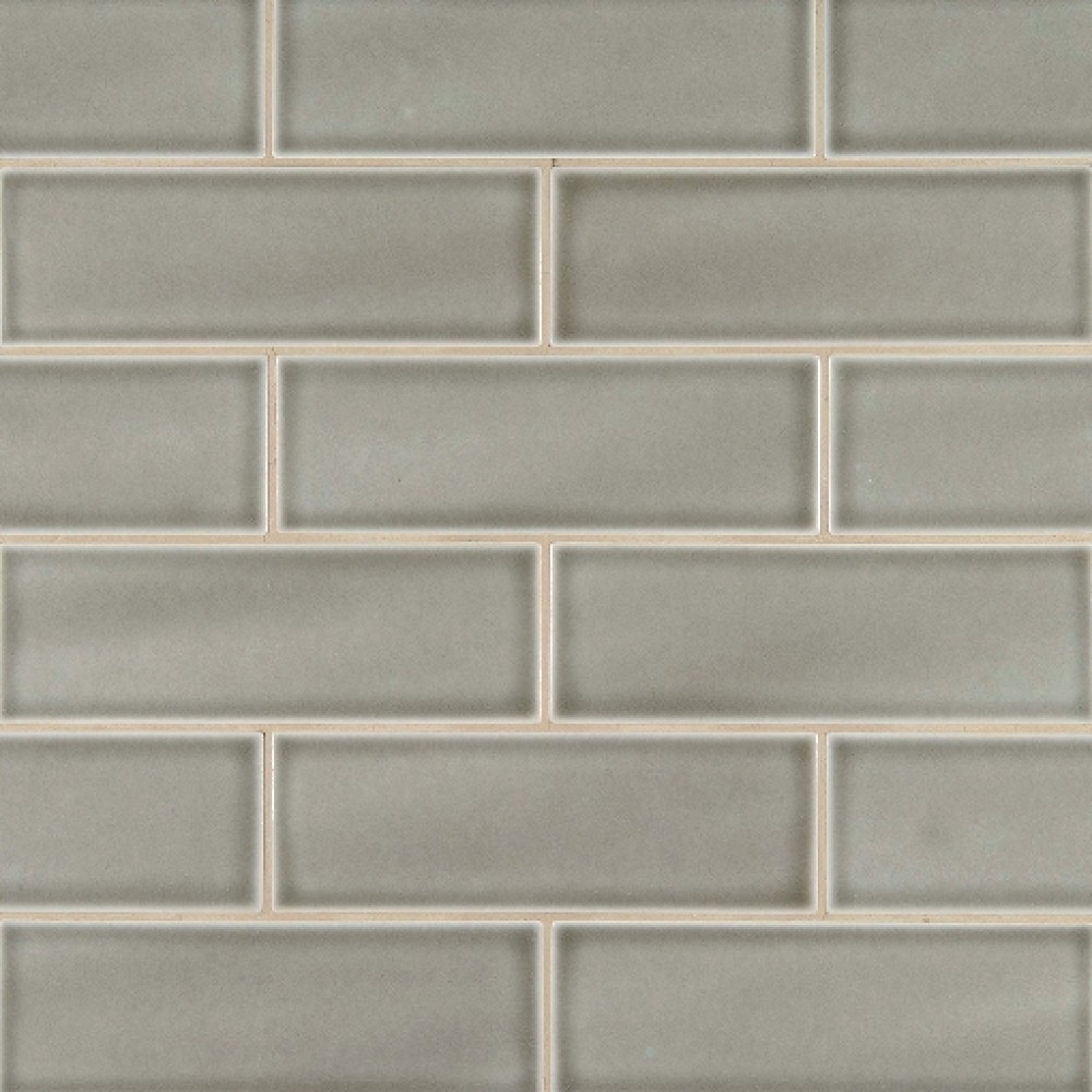 Dove Gray Handcrafted 4x12 Glossy Subway Tile