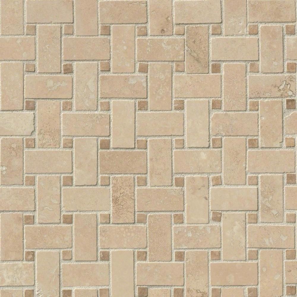Durango Caramel Honed Basketweave Pattern Mosaic