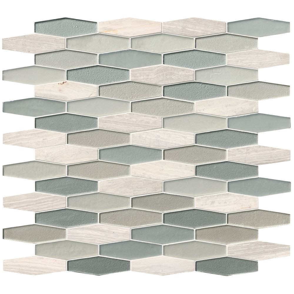 Europa Elongated Hexagon Backsplash Mosaic