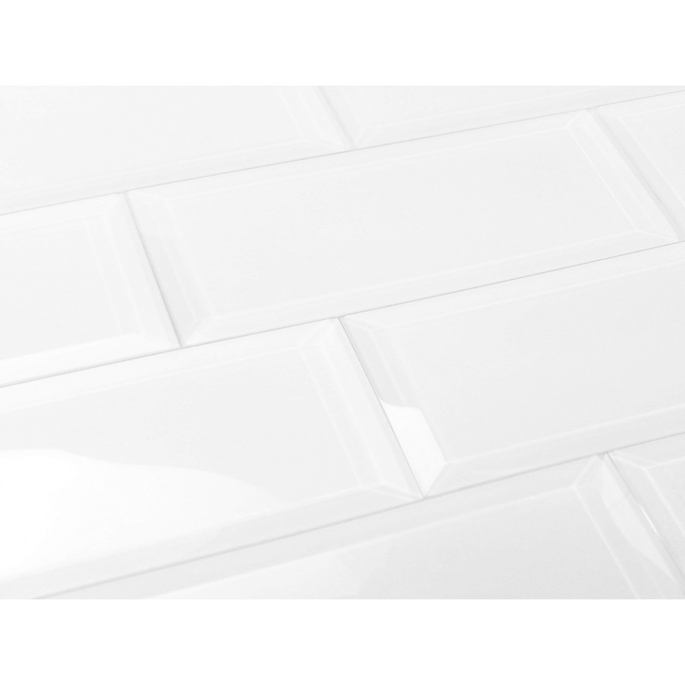 Frosted Elegance Isabelle 3X12 Glossy Subway Glass