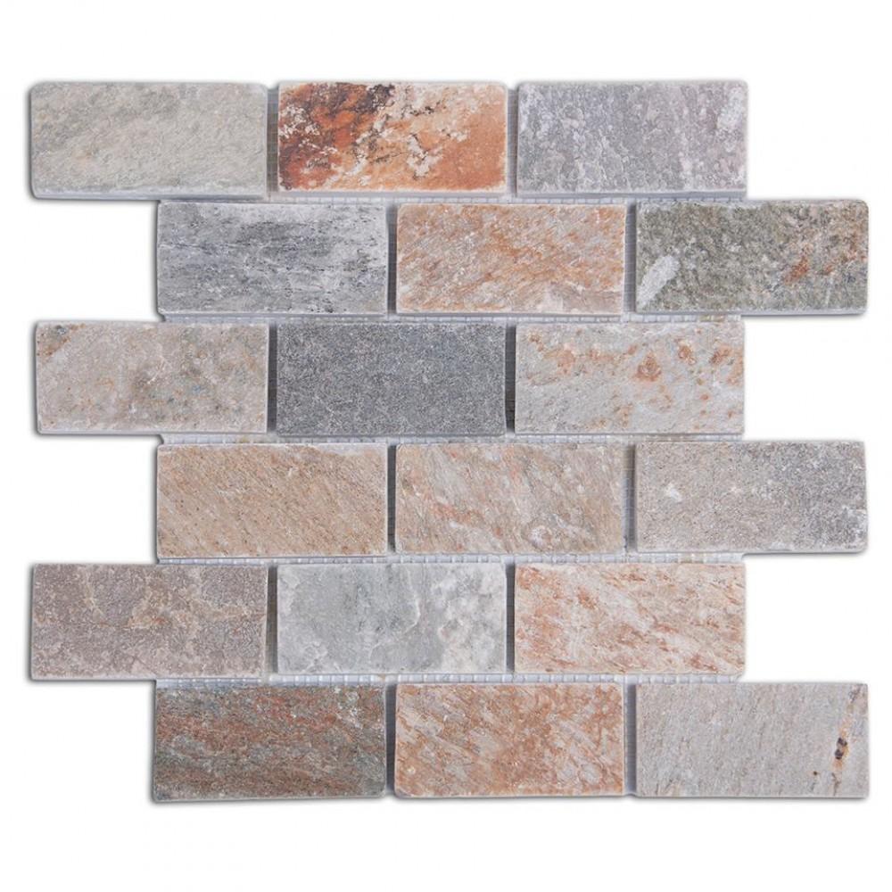 Golden Harvest 2X4 Quartzite Mosaic